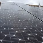 Installed solar panel PV array