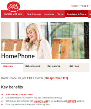 Post Office Home Phone